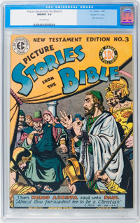 Picture Stories from the Bible New Testament Edition #3 Gaines File pedigree (EC, 1946) CGC NM/MT 9.8 Off-white pages...