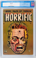 Golden Age (1938-1955):Horror, Horrific #3 Bethlehem pedigree (Comic Media, 1953) CGC VF 8.0Off-white pages....