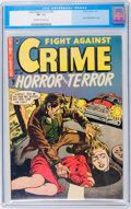 Golden Age (1938-1955):Horror, Fight Against Crime #20 (Story Comics, 1954) CGC VF- 7.5 Off-whiteto white pages....