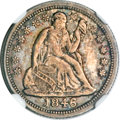 Seated Dimes, 1846 10C MS61 NGC....