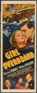 """Movie Posters:Mystery, Girl Overboard (Universal, 1937). Insert (14"""" X 36""""). Mystery.. ..."""