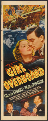 """Girl Overboard (Universal, 1937). Insert (14"""" X 36""""). Mystery"""