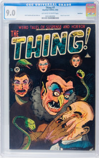 The Thing! #7 Northford pedigree (Charlton, 1953) CGC VF/NM 9.0 Off-white to white pages