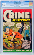 Golden Age (1938-1955):Crime, Crime Mysteries #3 Mile High pedigree (Ribage Publishing, 1952) CGC NM- 9.2 Off-white to white pages....