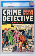 Golden Age (1938-1955):Crime, Crime Detective Comics #1 Mile High Pedigree (Hillman Publications, 1948) CGC NM+ 9.6 Off-white pages....