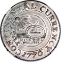 Colonials, 1776 $1 Continental Dollar, CURRENCY, Pewter MS64 NGC....