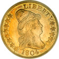 Early Eagles, 1804 $10 Crosslet 4 AU55 PCGS....