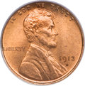 Lincoln Cents, 1913-D 1C MS66 Red PCGS....