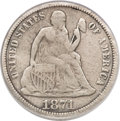 Seated Dimes, 1871-CC 10C Fine 12 PCGS....