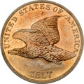 Proof Flying Eagle Cents, 1857 1C Flying Eagle PR64 Cameo PCGS....