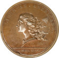 Colonials, 1781 Libertas Americana Medal in Bronzed Copper, Betts-615, MS63 Brown NGC....