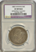 Coins of Hawaii: , 1883 50C Hawaii Half Dollar--Improperly Cleaned--NCS. XF Details.NGC Census: (18/277). PCGS Population (45/411). Mintage: ...