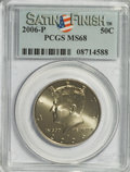 Kennedy Half Dollars, 2006-P 50C Set of 2 Kennedy Half Dollar Satin Finish MS68 PCGS. TheSet Includes: 2006-P Satin Finish MS68 and 2006-D Satin... (Total:2 coins)