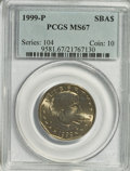Susan B. Anthony Dollars: , 1999-P SBA$ MS67 PCGS. PCGS Population (380/6). Numismedia Wsl.Price for ...