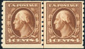 Stamps, 4c Brown, Horizontal Coil, Perf. 8½ (395),...