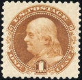 Stamps, 1c Buff, Re-Issue (123),...