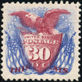Stamps, 30c Ultramarine & Carmine, Re-Issue (131),...