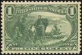 Stamps, 1c Dark Yellow Green (285),...