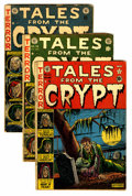 Golden Age (1938-1955):Horror, Tales From the Crypt Group (EC, 1951-54) Condition: Average GD....(Total: 5 Comic Books)