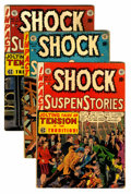 Golden Age (1938-1955):Horror, Shock SuspenStories Group (EC, 1952-55) Condition: AverageVG/FN.... (Total: 12 Comic Books)