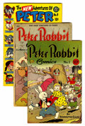 Golden Age (1938-1955):Funny Animal, Peter Rabbit Comics #1, 4, and 9 Group (Avon, 1947-51).... (Total:3 Comic Books)
