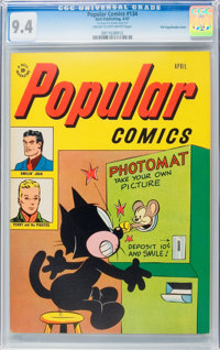 Popular Comics #134 File Copy/Double Cover (Dell, 1947) CGC NM 9.4 Cream to off-white pages