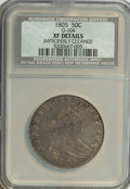 Early Half Dollars, 1805 50C --Improperly Cleaned--NCS. XF Details. O-104. Mintage:211,722. (#6069)...