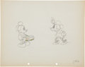 Animation Art:Production Drawing, Puppy Love Animation Production Drawing Original Art(Disney, 1933)....