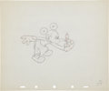 Animation Art:Production Drawing, The Worm Turns Animation Production Drawing Original Art(Disney, 1937)....