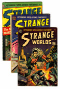 Golden Age (1938-1955):Science Fiction, Strange Worlds Group (Avon, 1952-55).... (Total: 7 Comic Books)