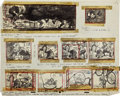 Animation Art:Production Drawing, Bill Peet Ben and Me Animation Storyboard Drawing Original Art (Disney, 1953)....