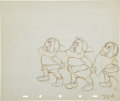 Animation Art:Production Drawing, Snow White and the Seven Dwarfs Animation Production DrawingOriginal Art (Walt Disney, 1937)....