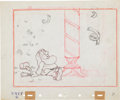 Animation Art:Production Drawing, Snow White and the Seven Dwarfs Story Sketch Original Art (Disney, 1937)....