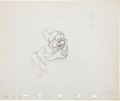 Animation Art:Production Drawing, Snow White and the Seven Dwarfs Animation Drawing OriginalArt (Disney, 1937)....