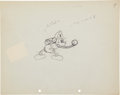 Animation Art:Production Drawing, Mickey's Fire Brigade Animation Production Drawing OriginalArt Group (Disney, 1935).... (Total: 2 Items)