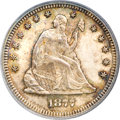 Seated Quarters, 1877-S 25C S Over Horizontal S MS64 PCGS. CAC....
