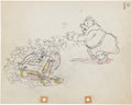 Animation Art:Production Drawing, Mickey's Service Station Animation Production DrawingOriginal Art (Disney, 1935)....