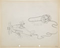 Animation Art:Production Drawing, The Mail Pilot Mickey Mouse Production Drawing Animation ArtGroup (Walt Disney, 1933).... (Total: 2 Original Art)
