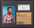 Basketball Collectibles:Others, Wilt Chamberlain Signed Floor Piece. ...