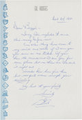 Autographs:Others, 1960 Gil Hodges Handwritten Signed Letter....