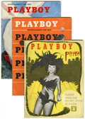 Magazines:Miscellaneous, Playboy #3-5 Group (HMH Publishing, 1954) Condition: AverageVG/FN.... (Total: 3 Items)