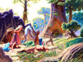 Original Comic Art:Covers, Greg and Tim Hildebrandt Magic the Gathering: Mercadian MasquesSingle - Forced March Trading Card Illustration Or...