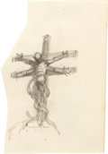 Original Comic Art:Miscellaneous, Frank Frazetta Alien Crucifixion Cover Preliminary SketchOriginal Art (1972)....