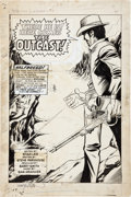 "Original Comic Art:Splash Pages, Barry Smith and Sam Grainger Western Gunfighters #4 ""HereComes the Outcast"" Splash Original Art (Marvel, 1971)...."