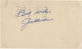 Autographs:Post Cards, 1950 Joe Gordon Signed Government Postcard. ...
