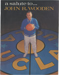 "Basketball Collectibles:Programs, 1965 John Wooden Night Varsity-Frosh ""Preview Game"" Program. ..."