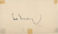 Autographs:Post Cards, 1954 Hank Greenberg Signed Government Postcard. ...