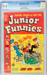 Junior Funnies #11 File Copy (Harvey, 1951) CGC NM 9.4 Cream to off-white pages
