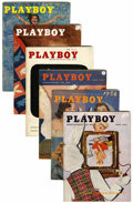 Magazines:Miscellaneous, Playboy Complete 1956-57 Group (HMH Publishing, 1956-57)....(Total: 24 Items)