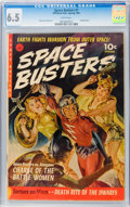 Golden Age (1938-1955):Science Fiction, Space Busters #1 (Ziff-Davis, 1952) CGC FN+ 6.5 White pages....